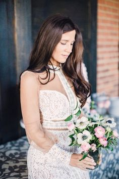 Gorgeous sheer crochet bridal shower dress: http://www.stylemepretty.com/2016/04/01/bridal-shower-inspiration-worth-stealing/ | Photography: Lauren Gabrielle - http://laurengabrielle.com/