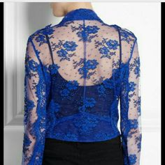 H&M royal blue cover up New with out tag lace cover up/vest. This is a beautiful piece. Pictures doesn't do any justice. Better appreciation in person. The color is to die for!!! 1st photo shows style inspiration. H&M Tops