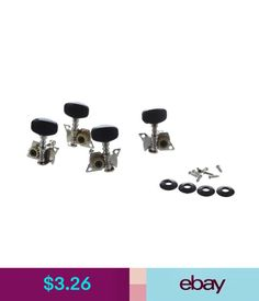 Parts & Accessories 4Pcs Ukulele Guitar And Small 4 String Guitar Tuning Pegs Machine Heads 2R Y1E6 #ebay #Lifestyle