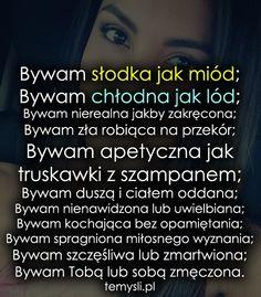Bywam słodka jak miód... Quotes, Cos, Polish, Google, Quotations, Vitreous Enamel, Quote, Shut Up Quotes, Nail