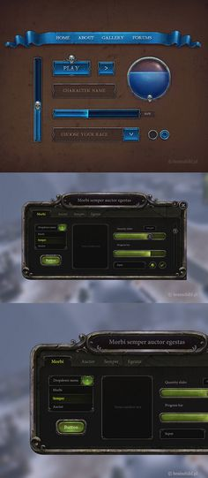game UI, game interface