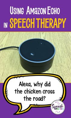 Looking for a fun activity to use in speecvh therapy? Here are effective  ways to use the Amazon Echo in Speech Therapy! #speechtherapy