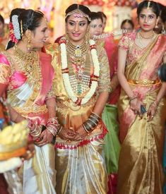 Over - Kanjivaram / Saree Store: Fashion South Indian Weddings, South Indian Bride, Indian Marriage, Bridal Lehenga Collection, Bride Sister, Indian Bridal Wear, Saree Wedding, Bridal Sarees, Bridal Looks