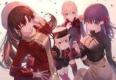 Sakura Matou & The Ladies Of Fate/Stay Night Fate Stay Night Sakura, Fate Stay Night Series, Fate Stay Night Anime, Fate Zero, Yandere, Saber Fate, Rin Tohsaka, Manga Anime, Anime Art
