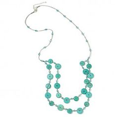 Round Coin Turquoise Necklace #handpicked