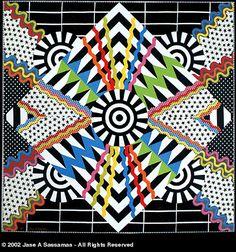 I love Jane Sassaman's quilts and fabrics!