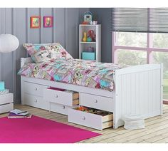 Buy Lennox Single Cabin Bed with 6 Drawer &Ashley Mattress-White at Argos.co.uk - Your Online Shop for Children's beds, Beds, Home and garden.