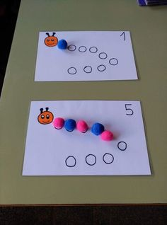 25 ideas for working with numbers of different ages - Aluno On Educational Activities For Toddlers, Creative Activities For Kids, Montessori Activities, Fun Crafts For Kids, Classroom Activities, Montessori Homeschool, Numbers Preschool, Learning Numbers, Preschool Kindergarten