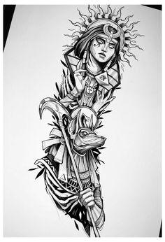 Half Sleeve Tattoos Sketches, Forearm Sleeve Tattoos, Tattoo Sleeve Designs, Tattoo Sketches, Body Art Tattoos, Hand Tattoos, Half Sleeve Tattoo Stencils, Osiris Tattoo, Horus Tattoo