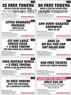 2016 Chuck E Cheeses Pizza Coupons Chuck E Cheeses Healthy