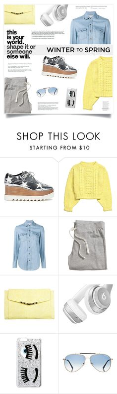 """""""My World"""" by marina-volaric ❤ liked on Polyvore featuring STELLA McCARTNEY, Yves Saint Laurent, H&M, Miss Selfridge, Beats by Dr. Dre, Chiara Ferragni, Tom Ford and Wintertospring"""