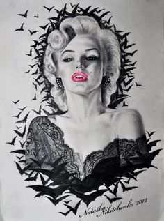 Vampire Marilyn Monroe...i'm feelin' this as a thigh piece!