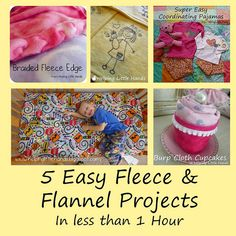 Pieces by Polly: 5 Easy Fleece and Flannel Projects in Less than ...