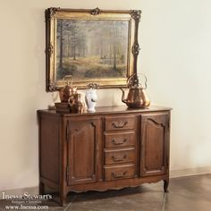 Antique Furniture |  Country French Buffets | Country French Fruitwood Buffet | www.inessa.com #CountryFrench #Antiques