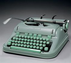 Mint green Hermes 3000 that Jack Kerouac used. Really, I just want to get a typewriter and write love notes every day - to my lover, to the world, to myself, to family, to friends...