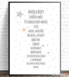 Plakat dzieci Modlitwa Aniele Boży gwiazdki A3