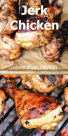 Spicy Chicken Marinades, Jerk Chicken Marinade, Chicken Drumstick Recipes, Chicken Drumstick Marinade, Bbq Chicken Drumsticks, Jerk Chicken Wings, Peri Peri Chicken, Grilled Chicken Legs, Baked Chicken