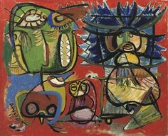 Asger Jorn (DANISH, 1914-1973)   Untitled   signed and dated 'Asger 40' (lower left)   oil on canvas   60 x 74 cm.