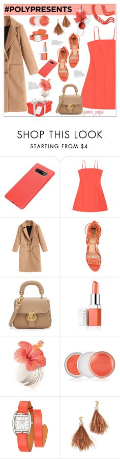 """""""#PolyPresents: Wish List"""" by goreti ❤ liked on Polyvore featuring Paula Cademartori, Burberry, Clinique, Chantecaille, Hermès, Lizzie Fortunato, contestentry and polyPresents"""