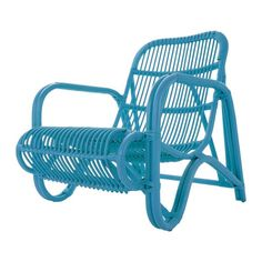 rattan Chair in Blue