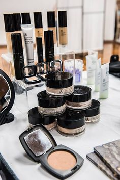 """Beautiful display of Arbonne cosmetics, I absolutely love it. It has also done wonders for my skin! """"Like"""" my FB page at Surshae Arbonne Independent Consultant. Consultant ID: 21565488"""
