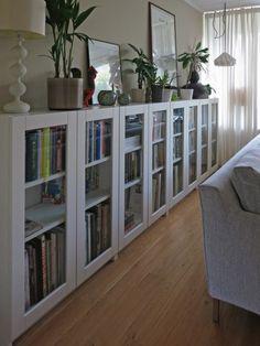 Ikea hack - Billy bookcase as long sideboard storage