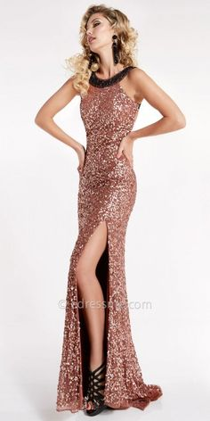 Dazzling Sequin Open Back Slit Dress from Lush by Jasz Couture #edressme