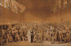 Le serment du jeu de Paume. Article de l'encyclopédie Larousse