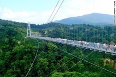 Rouge peak.  In Sochi, Russia, SkyBridge is the world's longest pedestrian bridge. It also has the world's highest swing and a 700-meter zip wire.  The mountaineering hut at the top of Tift Glacier was once reachable by foot. When the glacier started to shrink, the 170-meter-long Tift Bridge in Gadmen, Switzerland, became the only way to access the hut.  The Hanging Bridge of Ghasa, Nepal, was built to lighten congestion caused by animal herds heading up and down local roads.  Malaysia's…