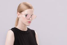 Dior Eclat pink, gray and gold sunglasses