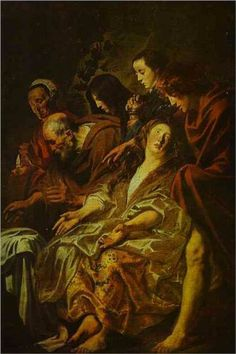 Holy Women at the Sepulchre - Jacob Jordaens