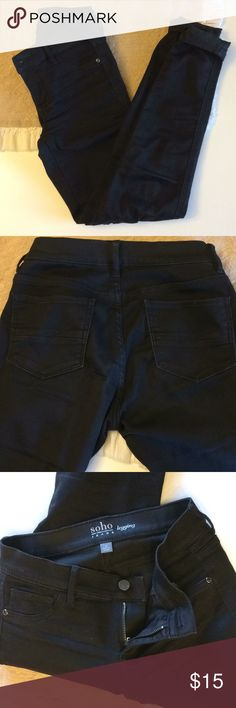 SOHO New York & Company Black Jeggings Worn once! SOHO New York & Company black jeans (jeggings). These have a lot of stretch! Size 0. Bundle and save! New York & Company Jeans Skinny