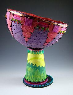 Angie Wiggins handmade paper bowl