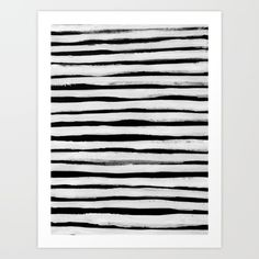 Buy Black and White Stripes II Art Print by Georgiana Paraschiv. Worldwide shipping available at Society6.com. Just one of millions of high quality products available.