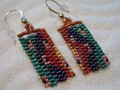 Custom Handwoven Peyote Stitch Earrings by ItzyBitzyBeads on Etsy, #beadwork