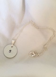 Hand-stamped Petite Personalized Initial by SamanthaButkus on Etsy