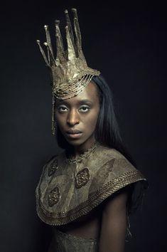 """""""Queen"""" by Gregor Laubsch Chasing Unicorns, Dark Queen, Warrior Queen, Costume Makeup, Fantasy Inspiration, Headgear, Headdress, Costume Design, Fascinator"""