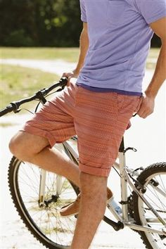 Orange Printed Chino Short
