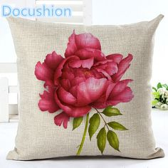 house DIY Fashion American Village Style Houseware Decor Cojines Floral Printed Sofa Pillow Throw Linen Cotton Pillow Cushion Almofadas -*- AliExpress Affiliate's buyable pin. Clicking on the image will lead you to find similar product on www.aliexpress.com