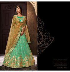 Lengha Choli, Sari, Party Wear Lehenga, Green Wedding, How To Wear, Design, Women, Fashion, Saree