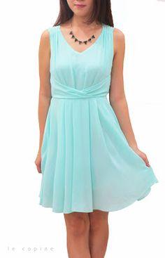 Rosette Chiffon Dress - RM54