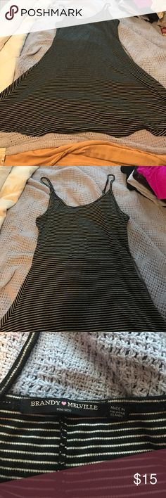 Brandy Mellville Striped Dress Never been worn! Super cute and cozy material. Perfect condition just selling because I never wear it. Brandy Melville Dresses Mini