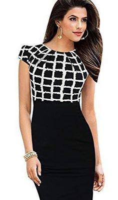 d27d9e07bac Merope J Womens Printed Ruffles Neck OL Pencil Contrasted Dress Church  Dresses