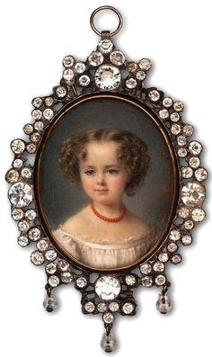 A Private Portrait Miniature Collection: Century Miniatures Victorian Jewelry, Antique Jewelry, Vintage Jewelry, Miniature Portraits, Miniature Paintings, Memento Mori, Belle Epoque, Vintage Antiques, 19th Century