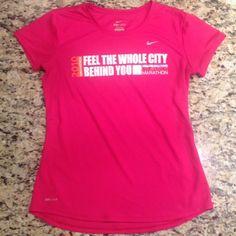 "Selling this ""Small hot pink Nike Dri-fit marathon top in EUC"" in my Poshmark closet! My username is: tinovia. #shopmycloset #poshmark #fashion #shopping #style #forsale #Nike #Tops"