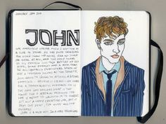 artist draws strangers and makes up stories