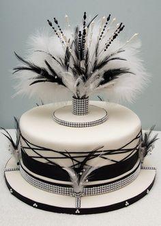 cake-topper-theme-noir-et-blanc