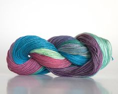 Size 10 hand dyed tatting thread, crochet cotton, raspberry, cerulean, mint green, forest green, lavender, and plum.