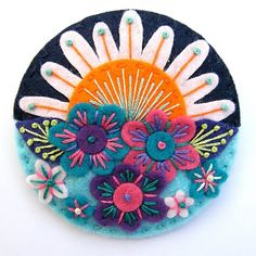 Gorgeous felt embroidery designs....coasters?? i think YES!