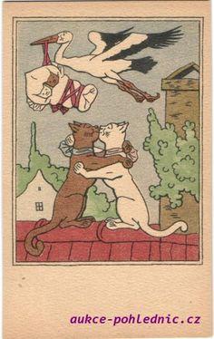 ... Cat Illustrations, Book Illustration, Czech Republic, Fairies, Childrens Books, Storytelling, Illustrators, Folk Art, The Past